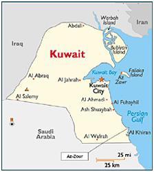 Al Zour Kuwait Map
