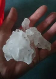Hailstones in Brisbane